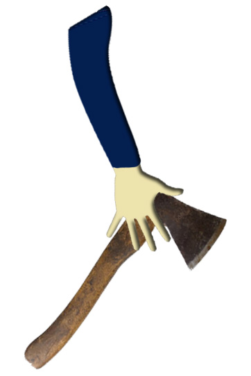 Carrying an axe