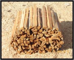 Kindling are the medium sized wood